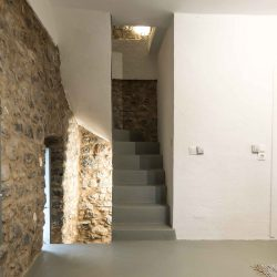 Tower suite: steps to upper terrace